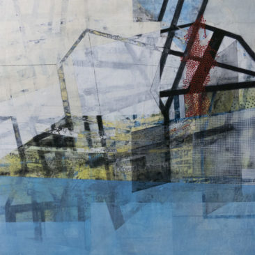 """""""An Inhabited Place"""", SOLD mixed media artwork by Linnie Brown"""