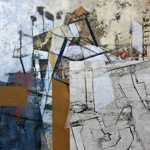 """To Divide Among Several or Many, 24"""" x 24"""", mixed media on panel"""