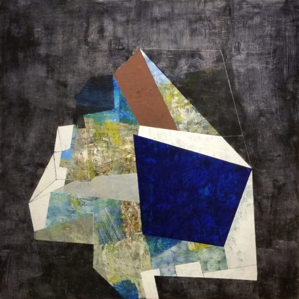 At the Center, mixed media artwork by Linnie Brown