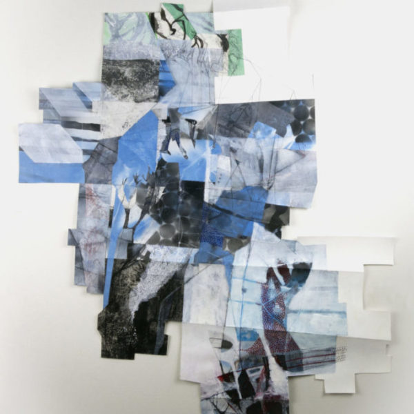 """Enough to Span the Width, approximately 49"""" x 36"""", mixed media on paper"""