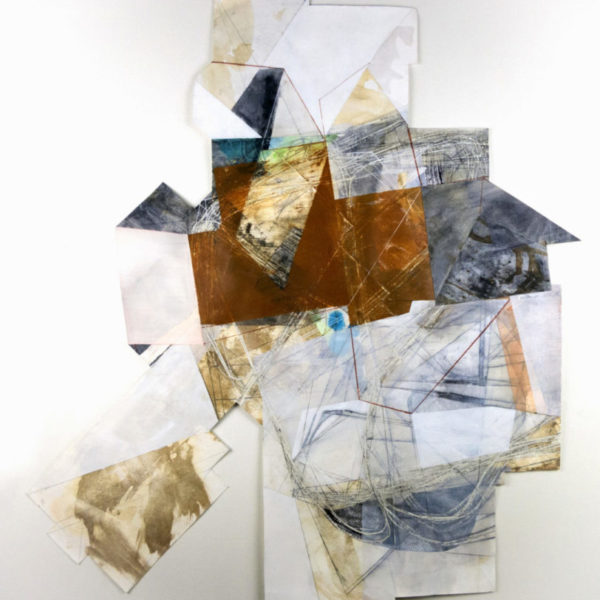 """Preoccupied with Inaccessibility, approximately 41"""" x 38"""", mixed media on paper"""