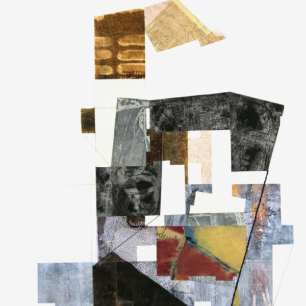 """SOLD-The Way Built out of the Ground, 24"""" x 18"""", mixed media on paper"""