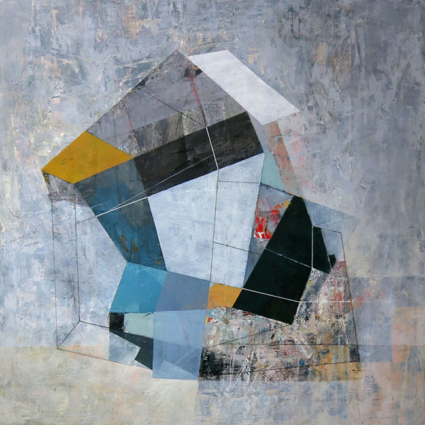 """Within a Limited Area, 24"""" x 24"""", mixed media on panel"""
